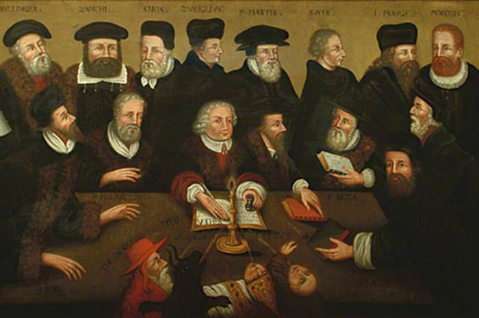 unknown artist; The Protestant Reformers; Lewes Town Council; http://www.artuk.org/artworks/the-protestant-reformers-73960